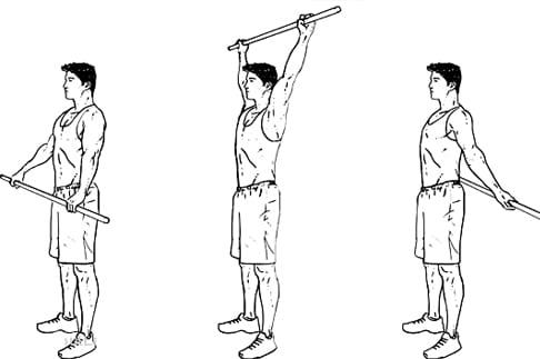 تمرین بروم استیک برای درمان در رفتگی شانه