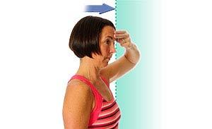 حرکت تقویتی خم کردن رو به جلو برای درمانرگ به رگ شدن گردن