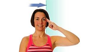 حرکت تقویتی خم کردن گردن به پهلو برای درمانرگ به رگ شدن گردن