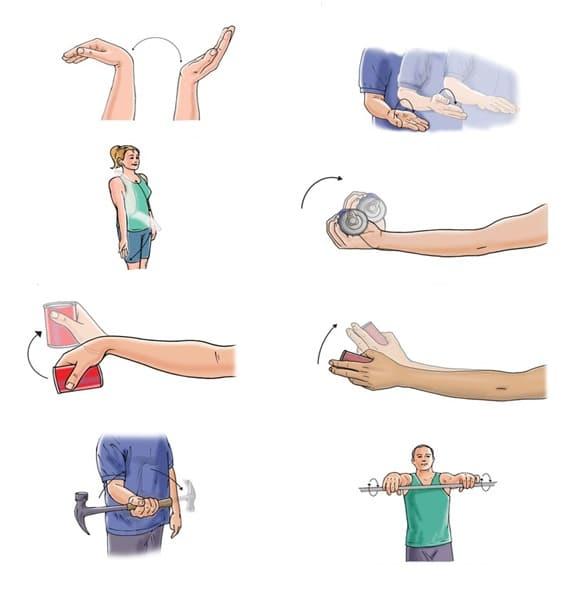 ورزش های کششی و تقویتی مناسب برای درمان شکستگی آرنج