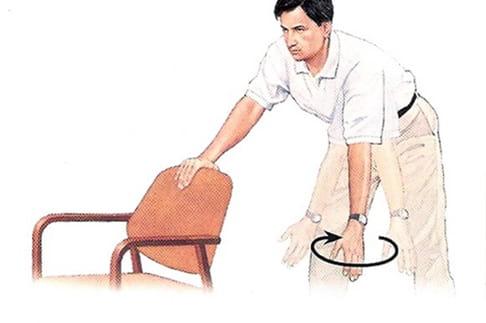 تمرین پندولار سیرکل برای درمان در رفتگی شانه