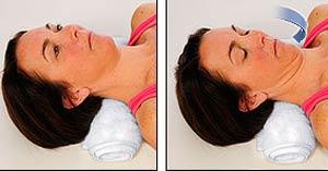 تمرین چین دادن چانه برای درمانرگ به رگ شدن گردن