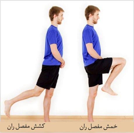 تمرین کشش و خم کردن مفصل ران برای درمان دررفتگی لگن