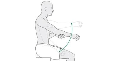 تمرین خمیدگی به سمت جلو برای درمان شکستگی شانه و ترقوه