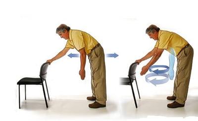تمرین پاندول برای درمان شکستگی شانه و ترقوه