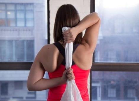 موقعیت کاو-فیس برای درمان درد شانه و تقویت عضلات