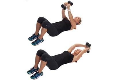 تمرین کشش بالای سر برای تقویت عضلات کمر