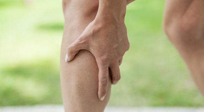 گرفتگی عضلات پا
